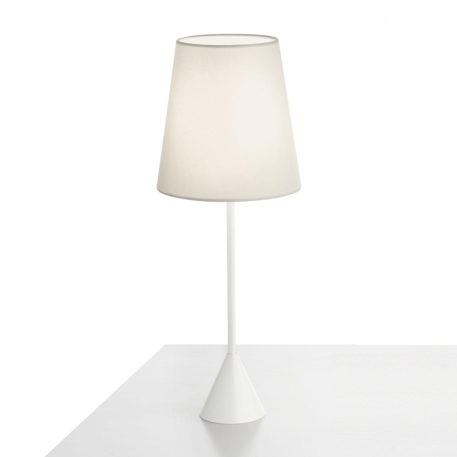 Modo Luce Lucilla lampa stołowa Ø 17cm biała