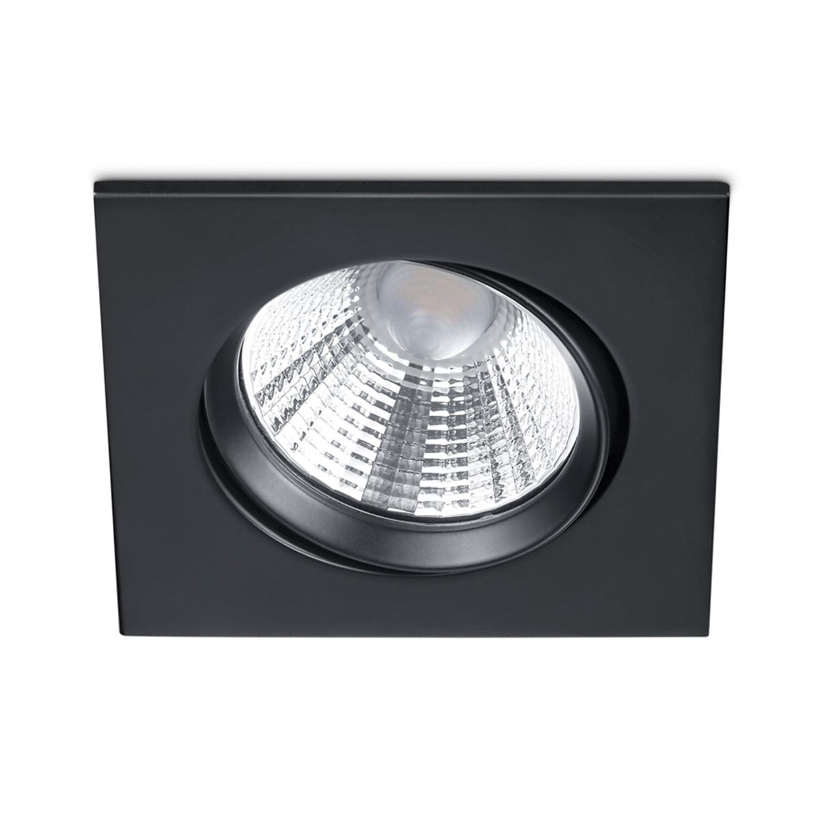 Dimmbarer LED-Einbaustrahler Pamir in Schwarz matt