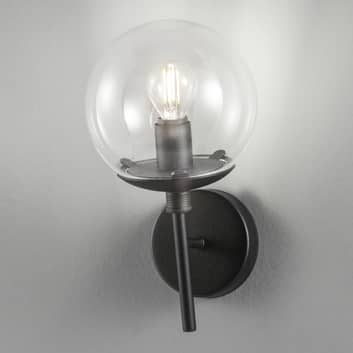 Lampa ścienna Global Ø 15 cm czarna