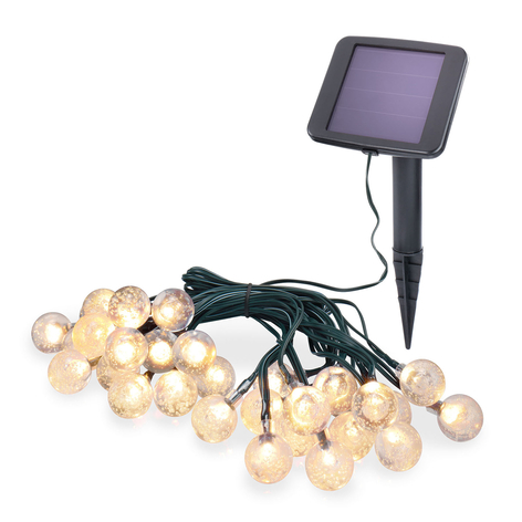 Solar-LED-Lichterkette Bubble Balls mit 30 Kugeln