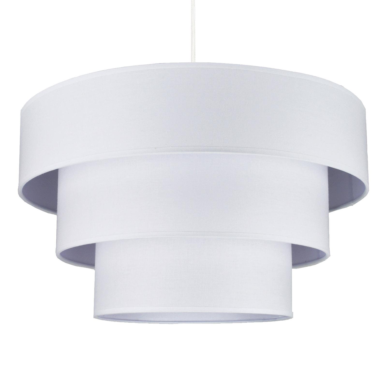 Tekstylna lampa wisząca Luneta, biała