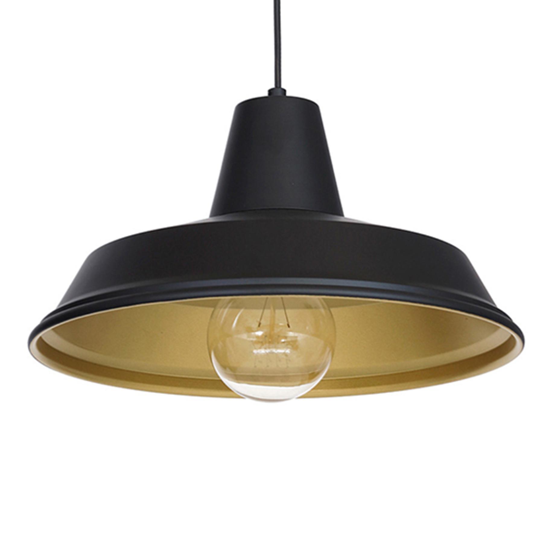 Lampa wisząca Class, czarna/złota