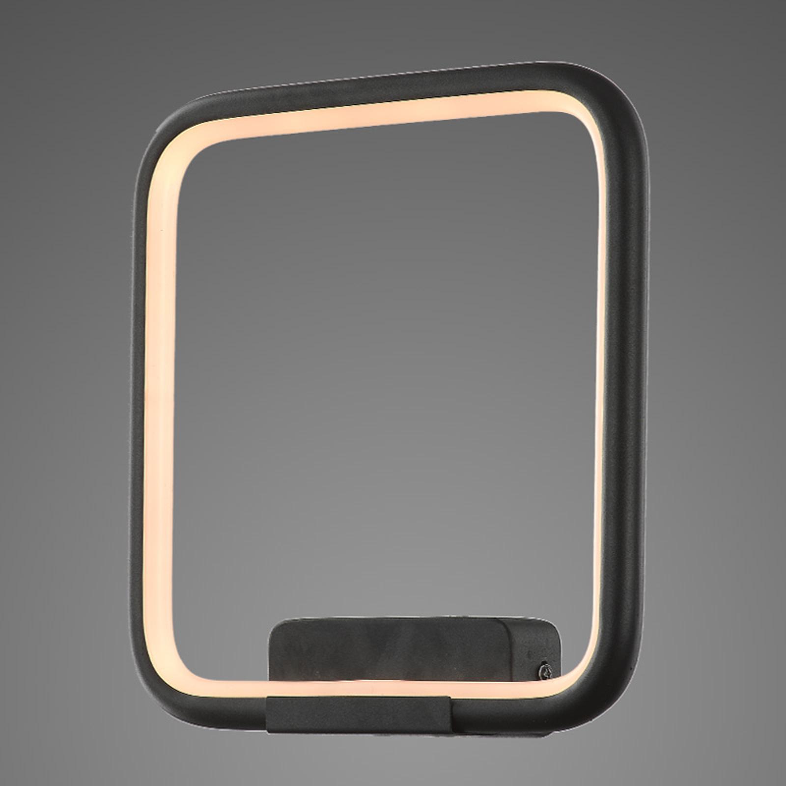 LED wandlamp LA079 hoekig zwart 3.000 K