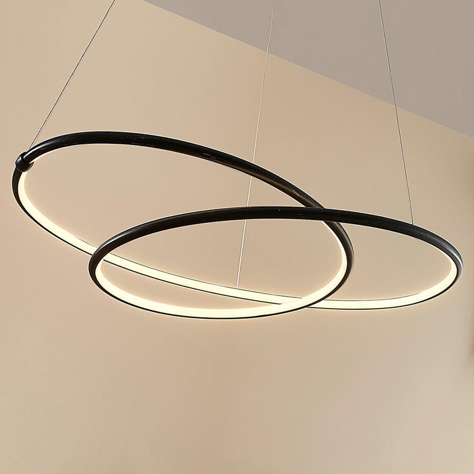 Svart, moderne LED-pendellampe Mirasu