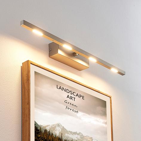 LED-Wandlampe Arnik, dimmbar, nickel matt