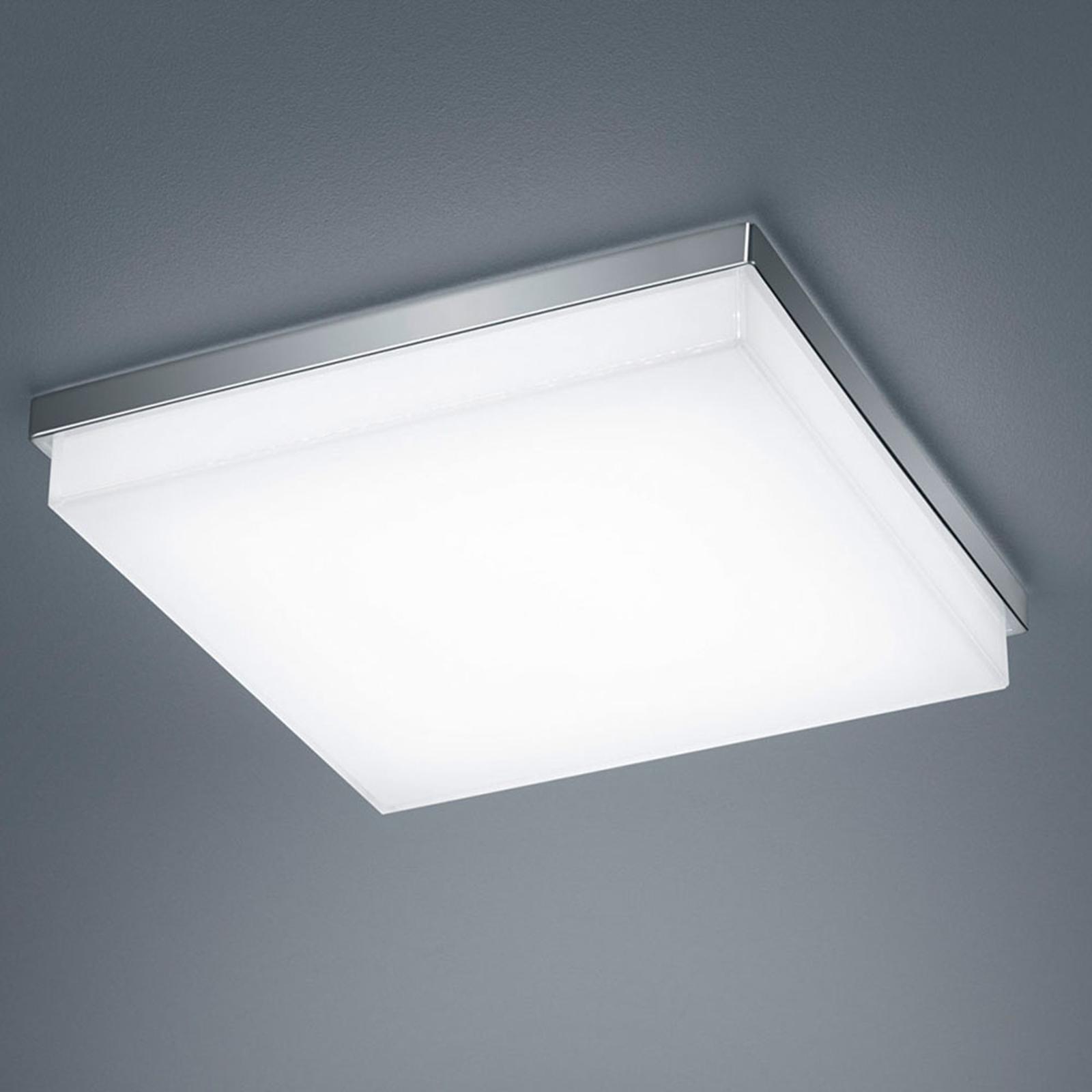 Helestra Cosi plafoniera LED cromo 31,5x31,5 cm