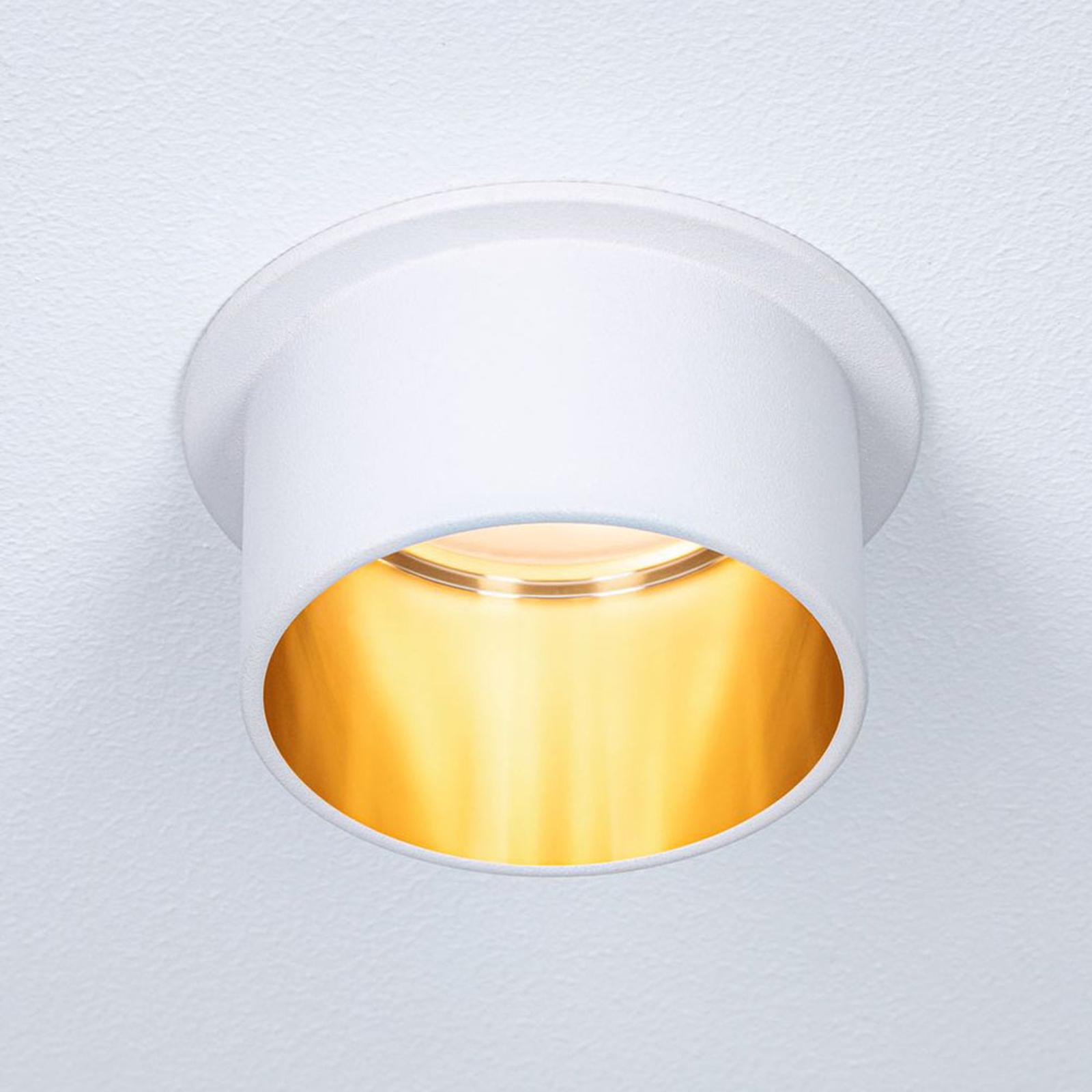 Paulmann Gil LED-innfelt hvit matt/gull