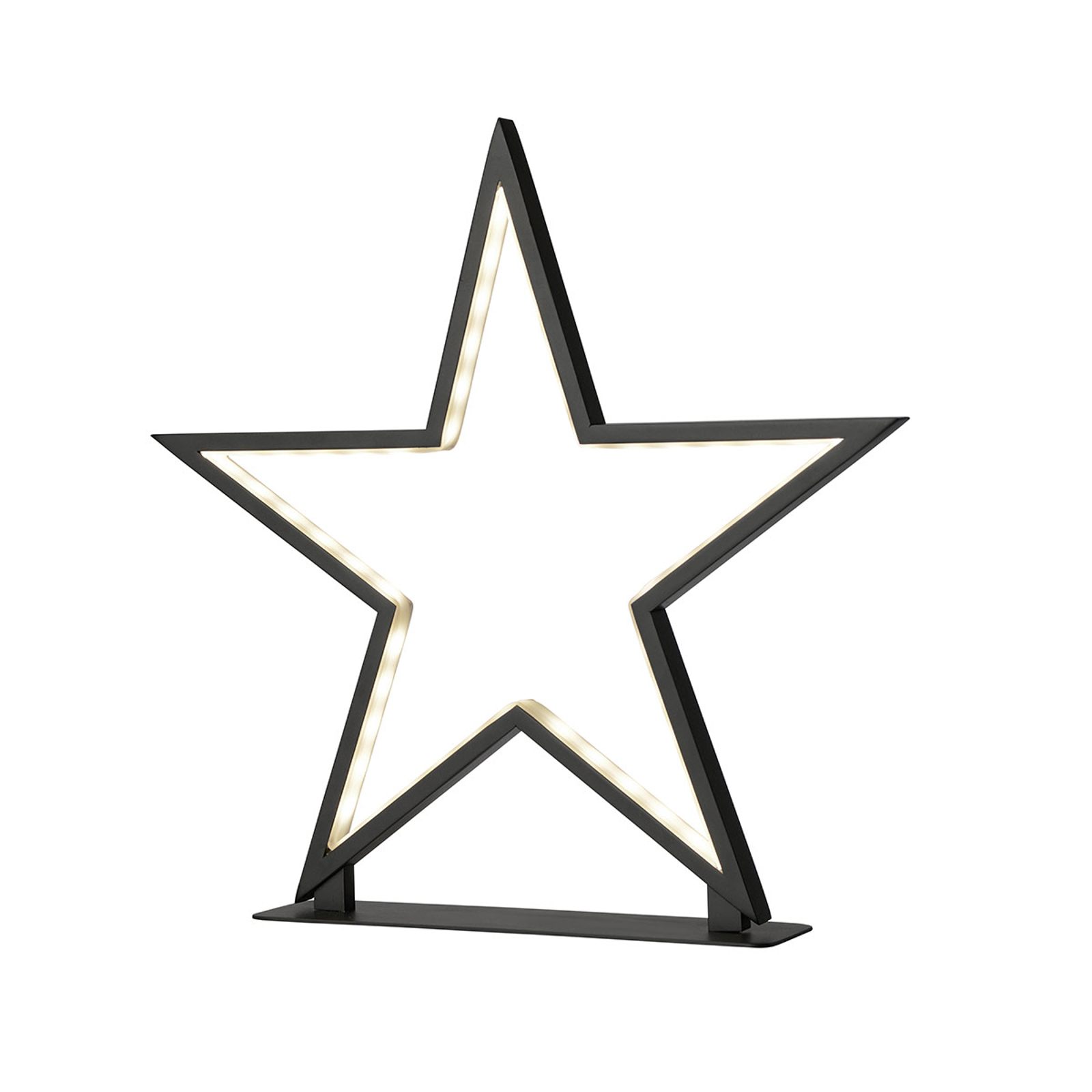 Schwarzer Aluminium-Stern Lucy Höhe 33 cm