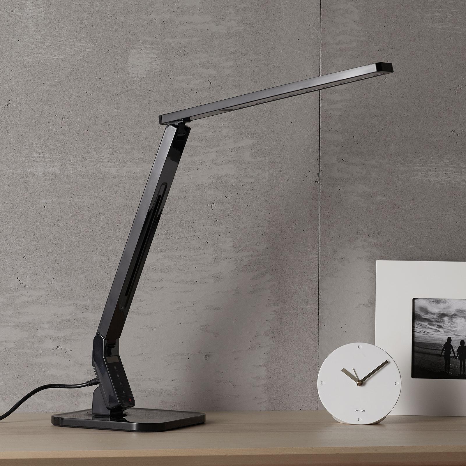 Zwarte LED-bureaulamp Eleni