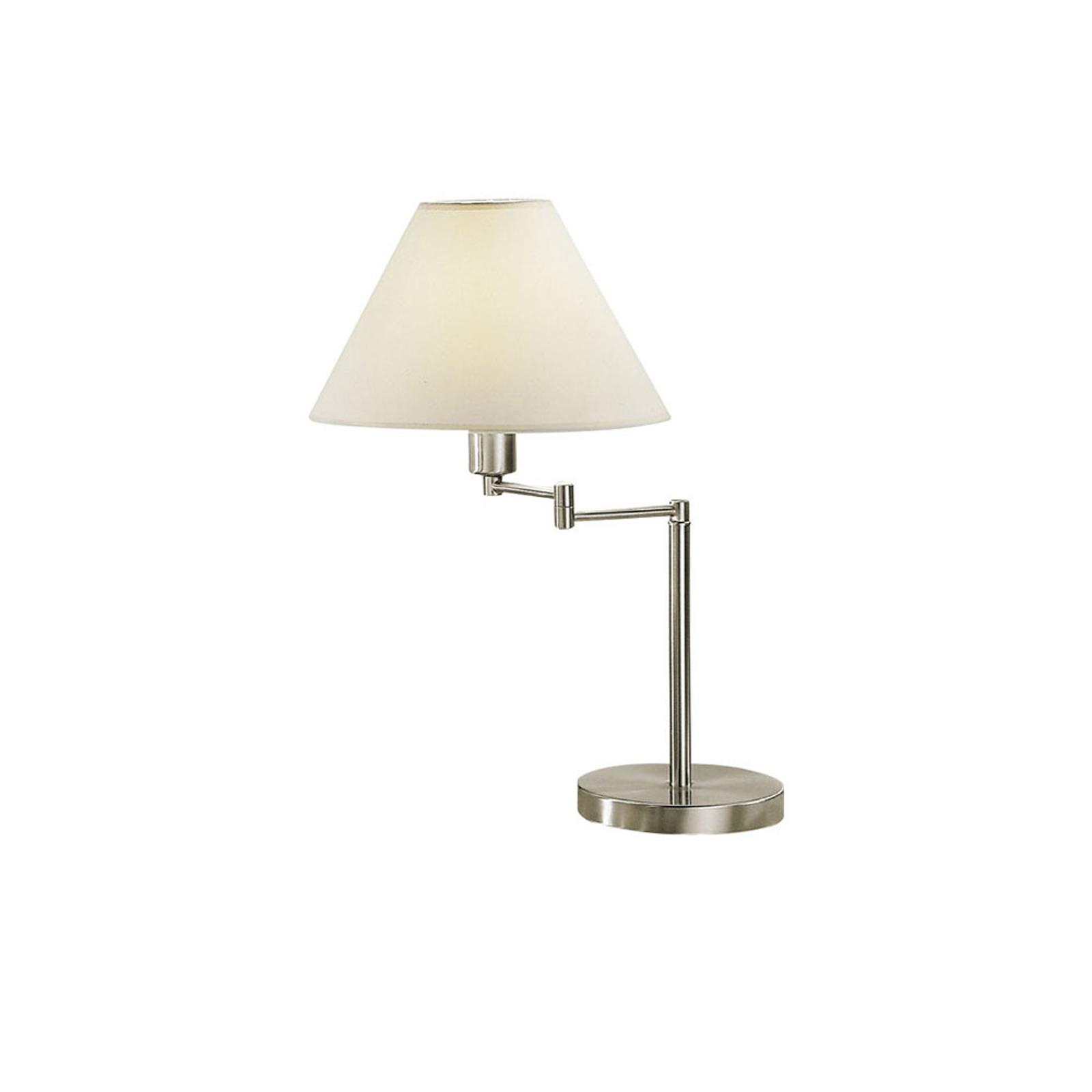 Lampa stołowa Hilton, wychylna, nikiel