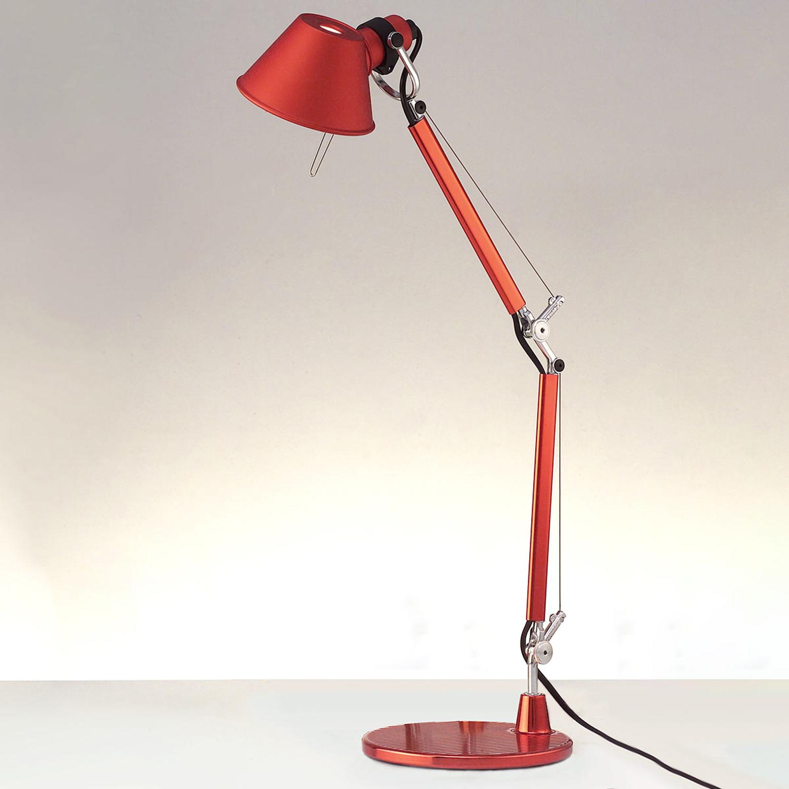 Artemide Tolomeo Micro bordslampa, röd