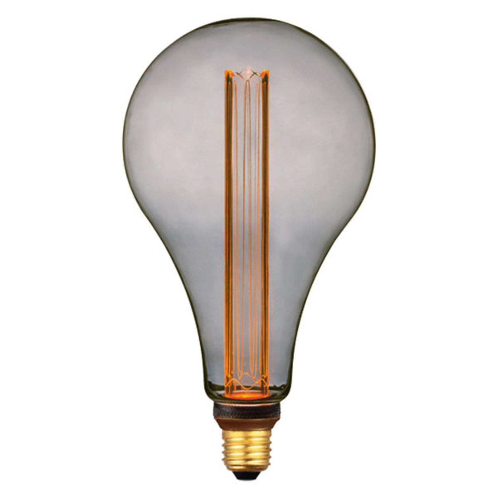 LED-Lampe E27 5W, warmweiß, 3-Step-dim, smoke 30cm