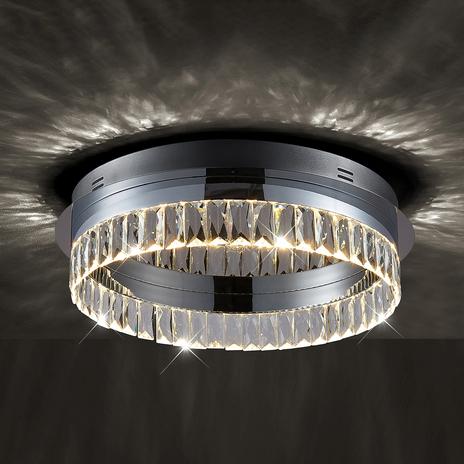 Ściemniana przełącznikiem lampa sufitowa LED Carmi