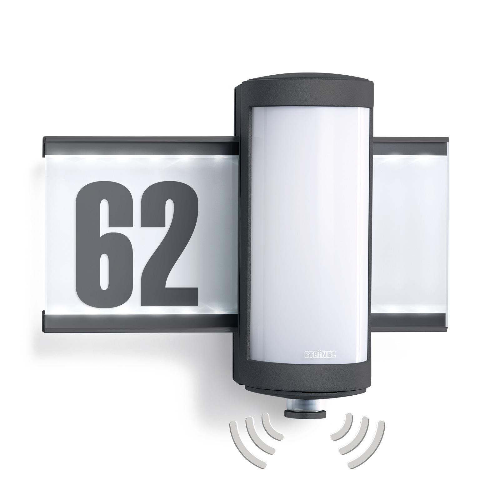 STEINEL L 625 LED-husnummerlampa iHF 360° sensor