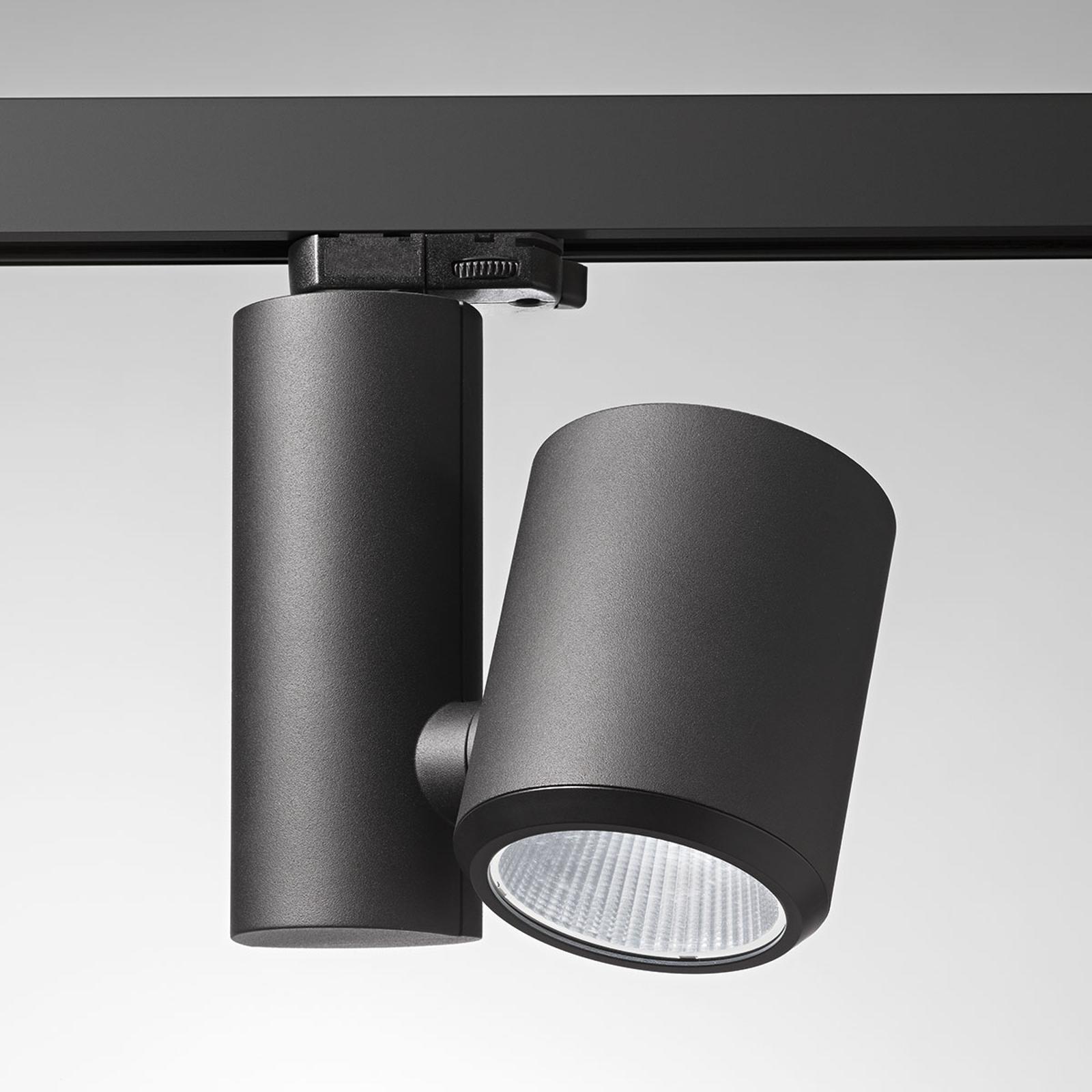 Schwarzer LED-Schienenstrahler Kent Bakery 38°