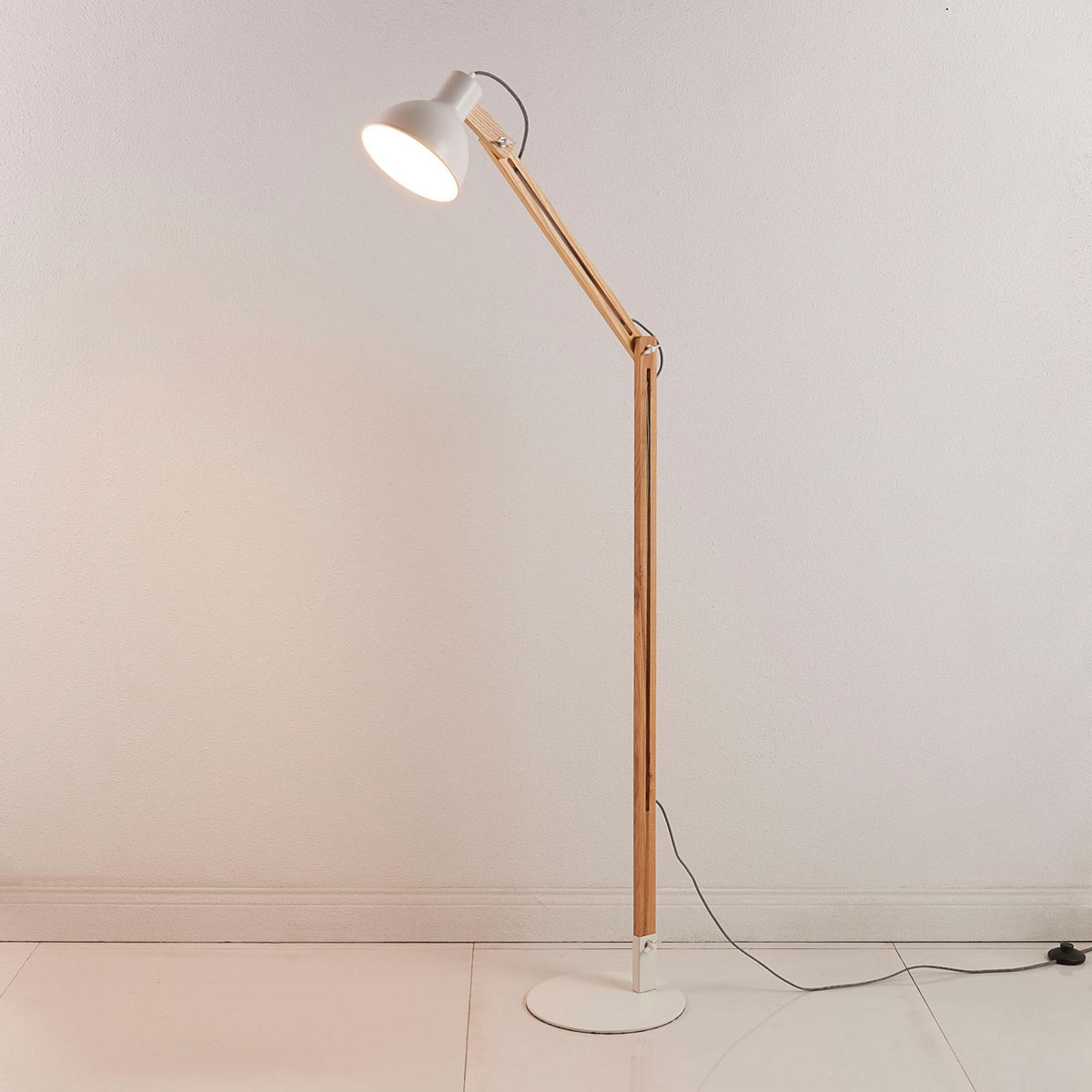 Shivanja - Lampa stojąca z drewna i metalu
