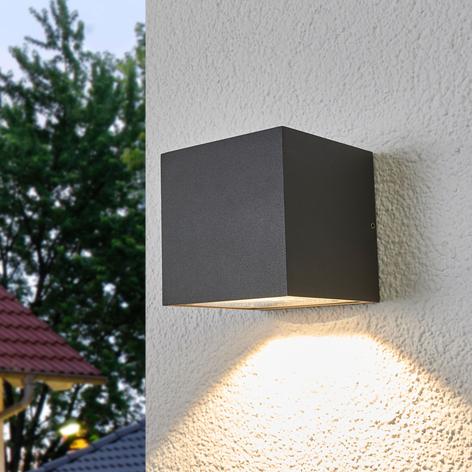Aplique LED de exterior Merjem en gris oscuro