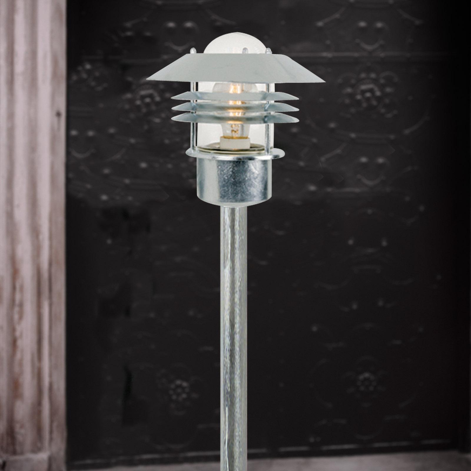 lampada da terra Vejers, acciaio zincato a fuoco