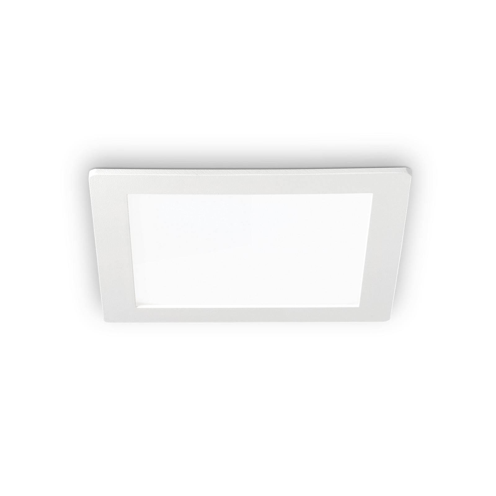 LED-Deckeneinbauleuchte Groove square 11,8x11,8 cm