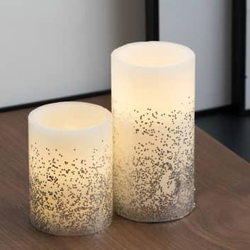 Pauleen Glitter Candle LED-mignon 2er-sett