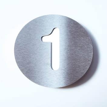 Husnummer Round av rustfritt stål