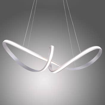 Závěsné LED světlo Melinda, 38W, ocelově šedé