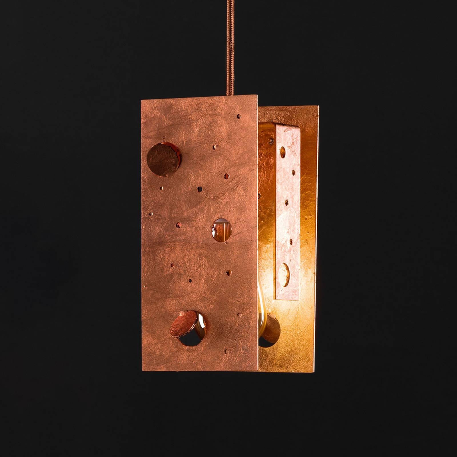 Knikerboker Buchi hanglamp 19x19x40cm koper