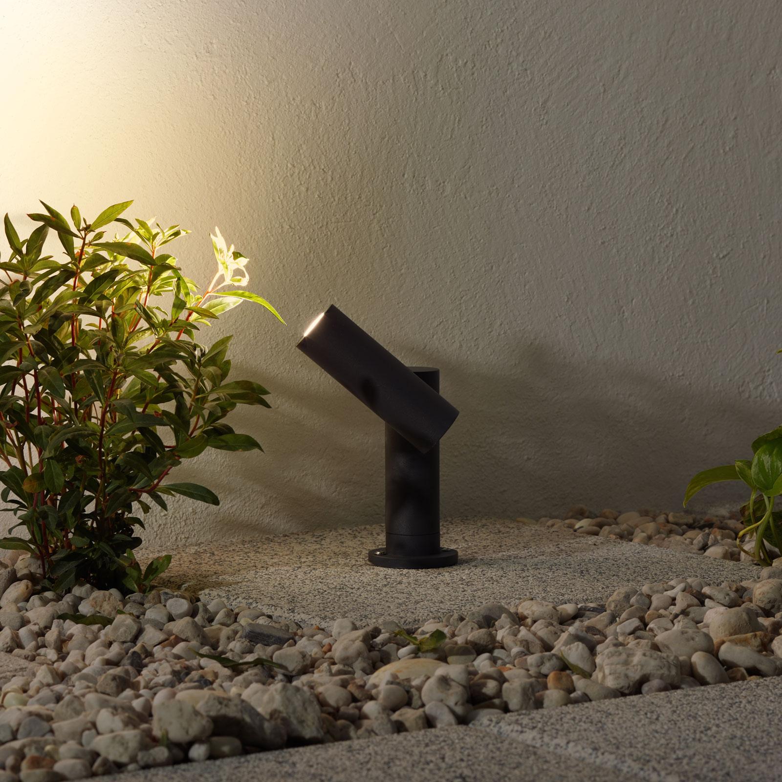 Lampa cokołowa LED Narea, regulowana, 14cm