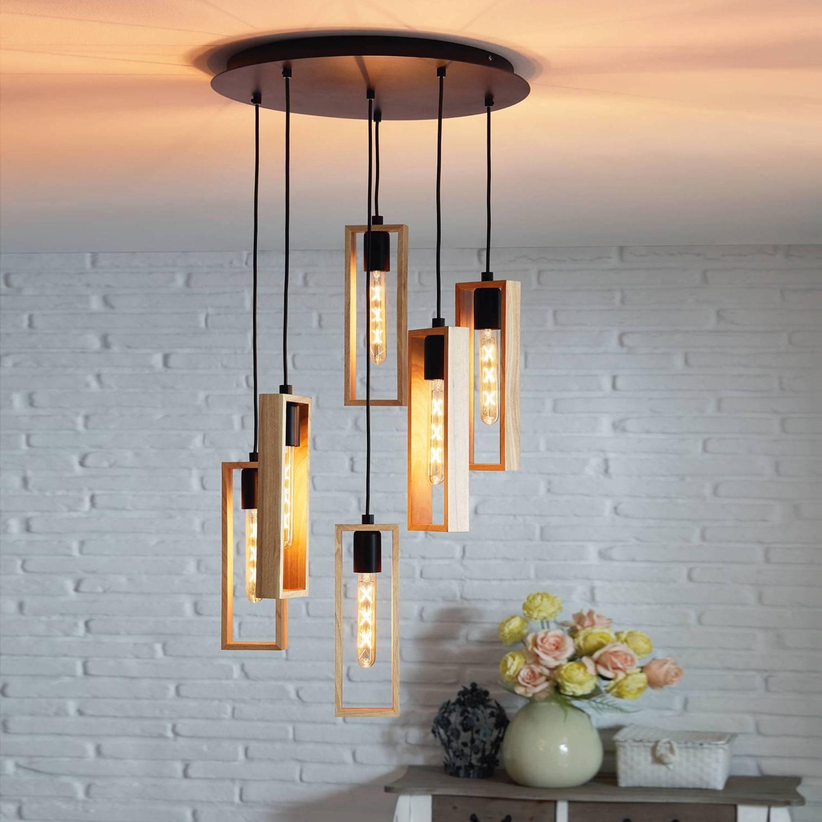 Suspension Littleton, à 6 lampes