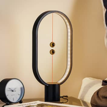SEGULA Heng Balance lampada LED da tavolo, nero