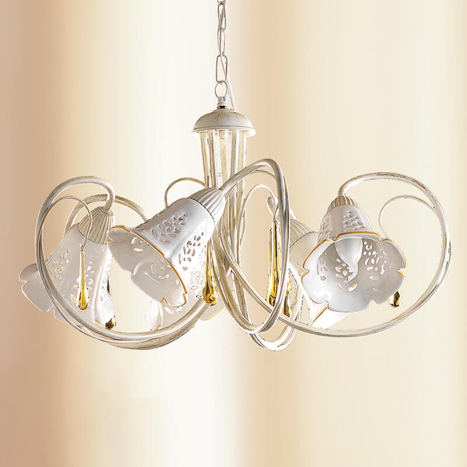 Gocce - zwaaiende keramiek-hanglamp