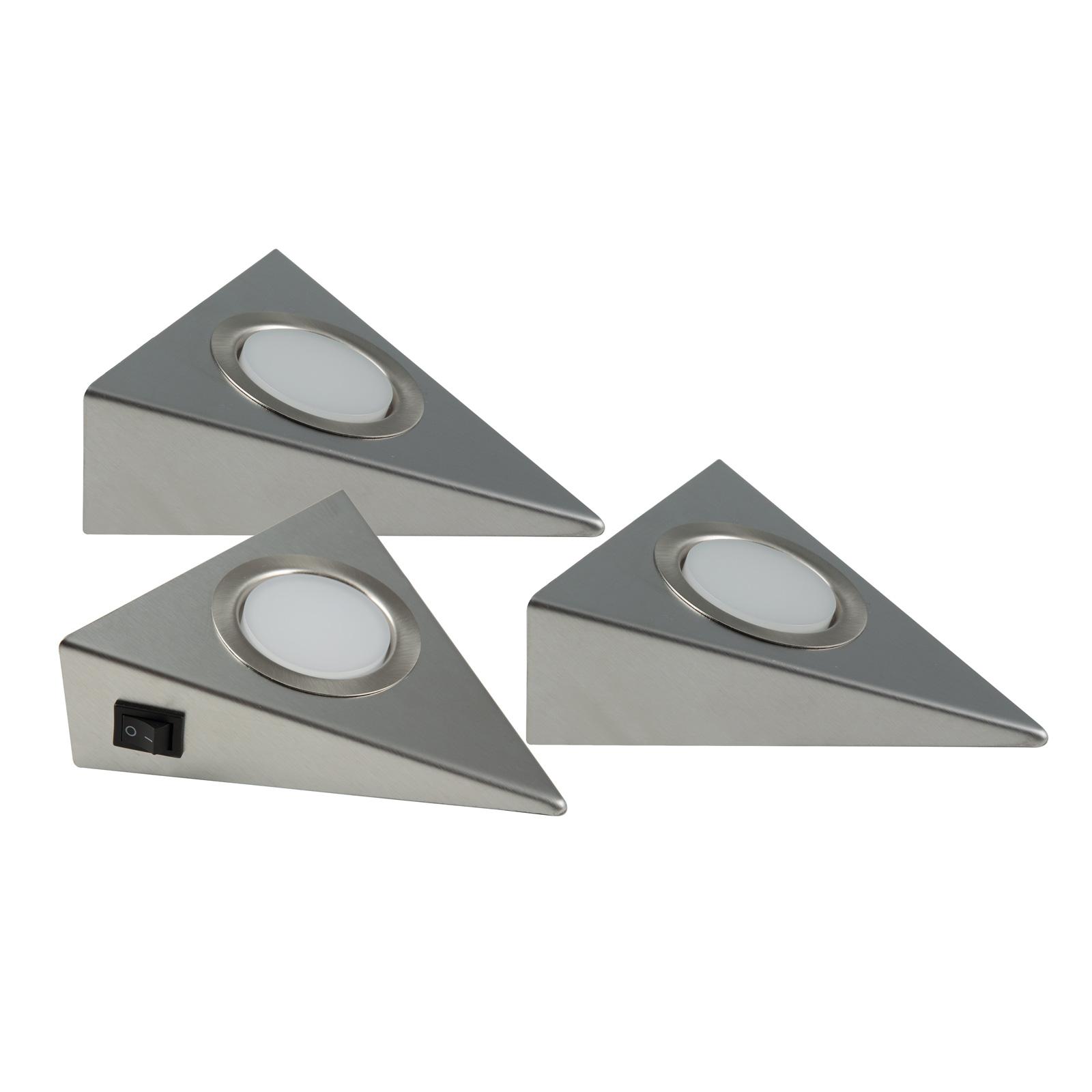LED-Unterbauleuchte Genua 3er-Set mit Schalter