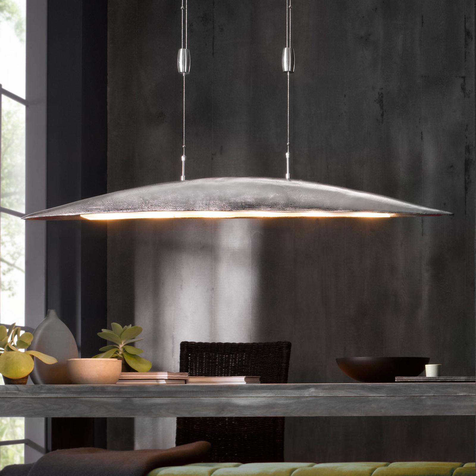 LED-Hängeleuchte Colmar, Länge 131 cm, nickel