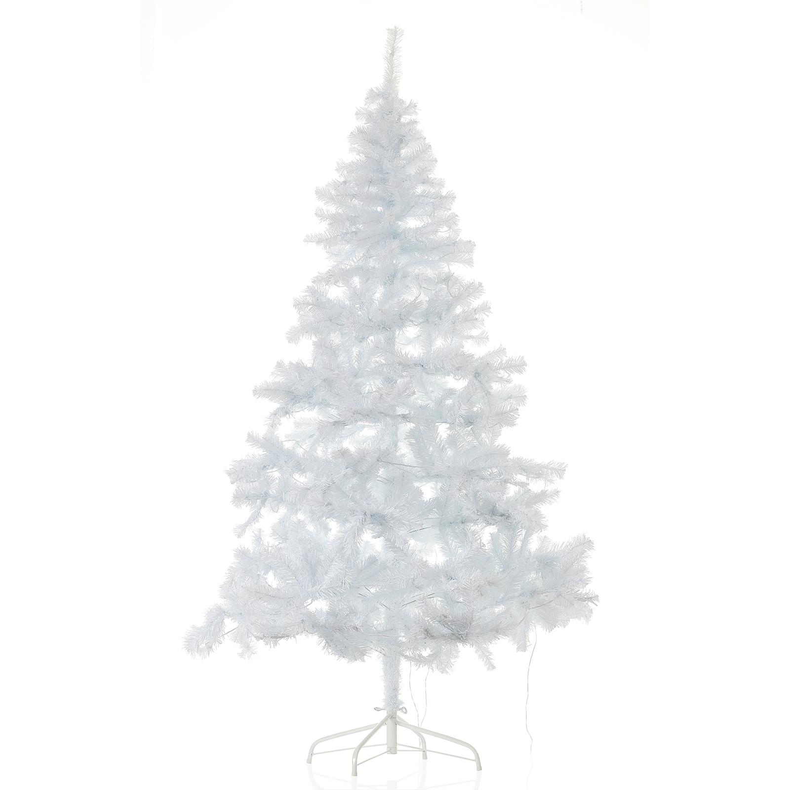 Valkoinen Ottawa-LED-joulukuusi ulos, 2,1m 260 LED