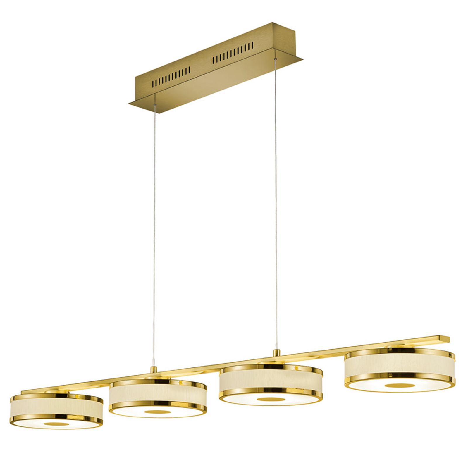 LED hanglamp Agento, messing, 4-lamps
