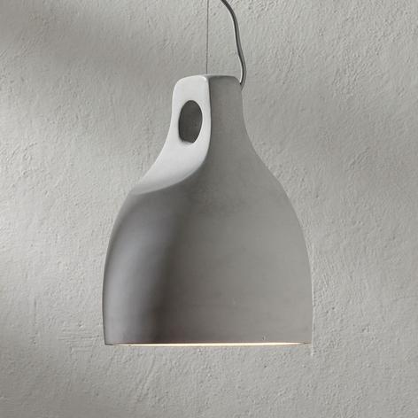 Betonnen hanglamp Morton in ronde vorm