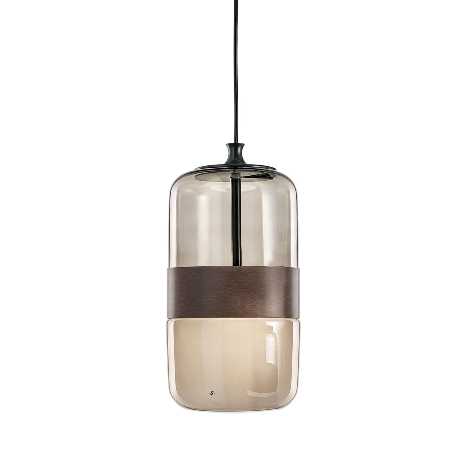 Suspension Futura en verre de Murano, 23cm