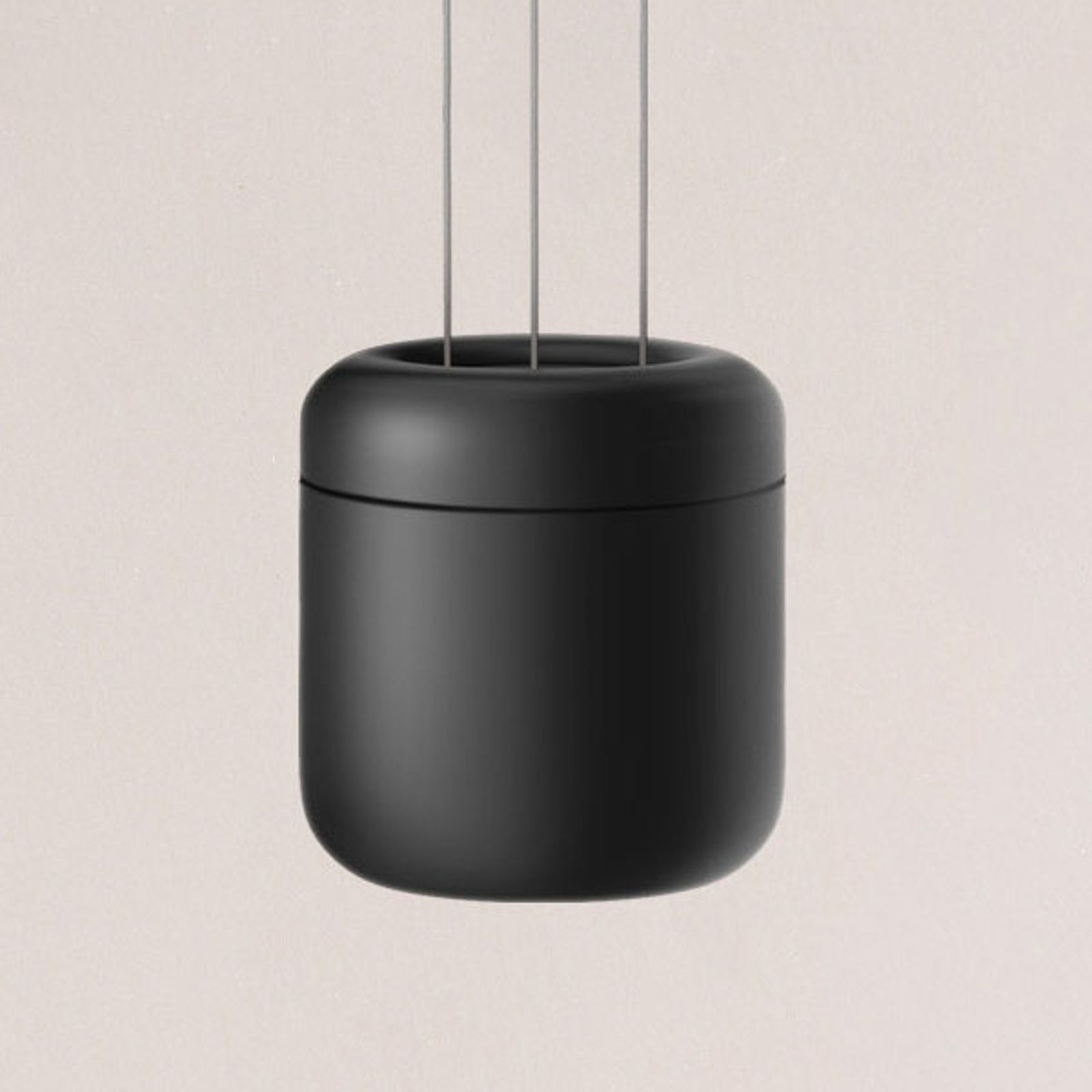 serien.lighting Cavity Suspension S, noir