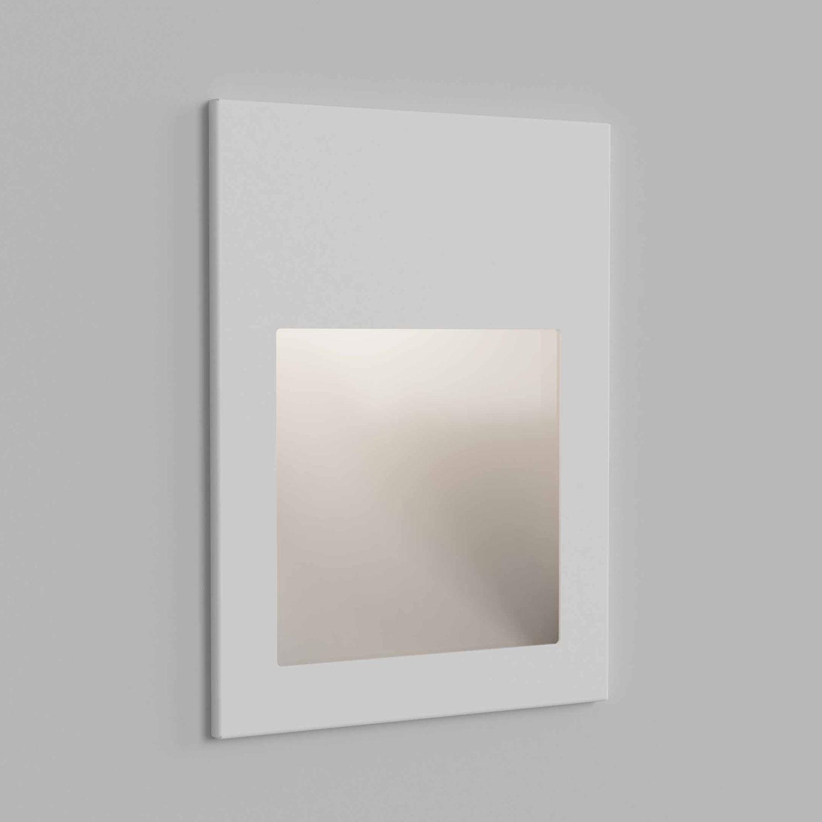 Astro Borgo 90 innfelt vegglampe, hvit tekstur