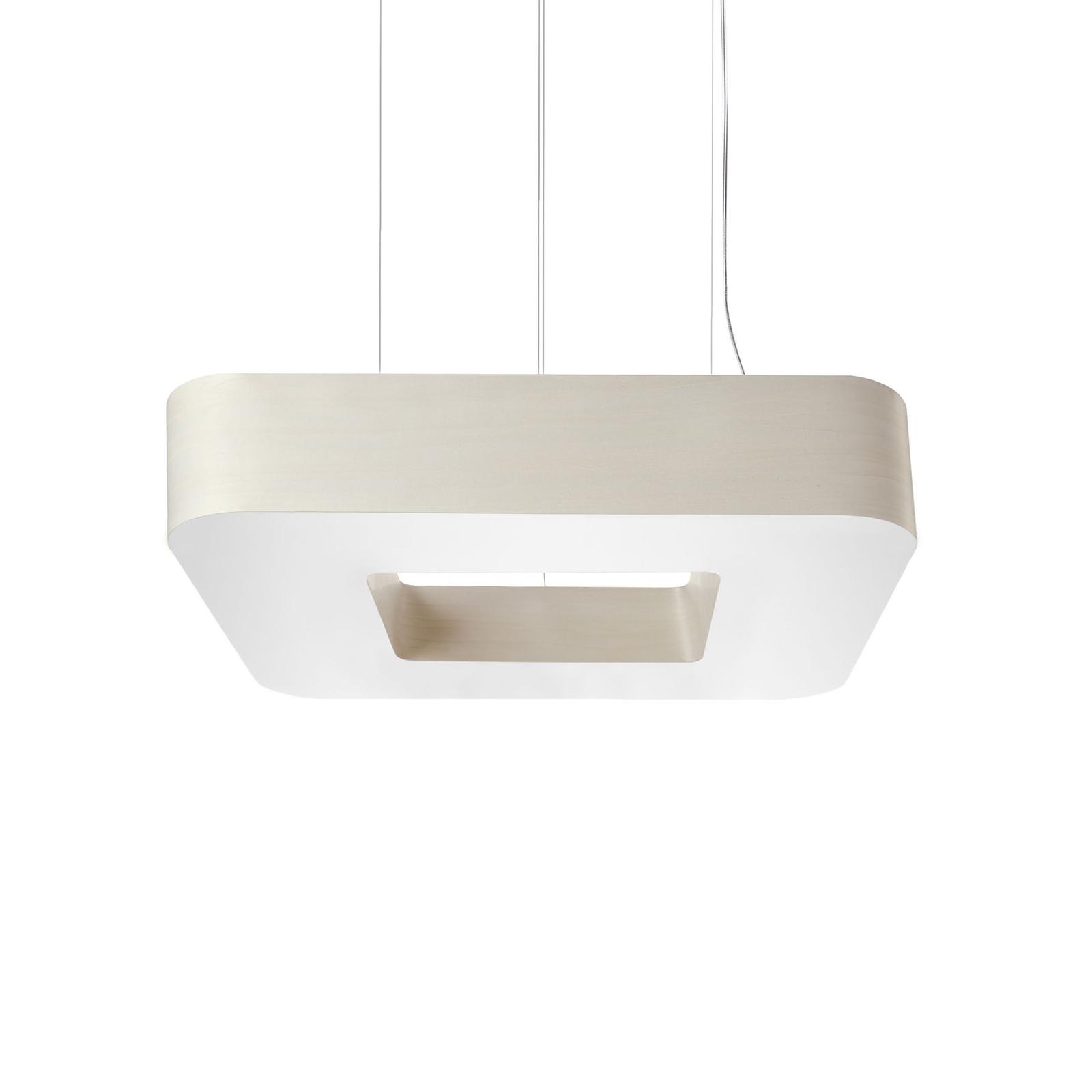 LZF Cuad suspension LED 0-10V dim, ivoire