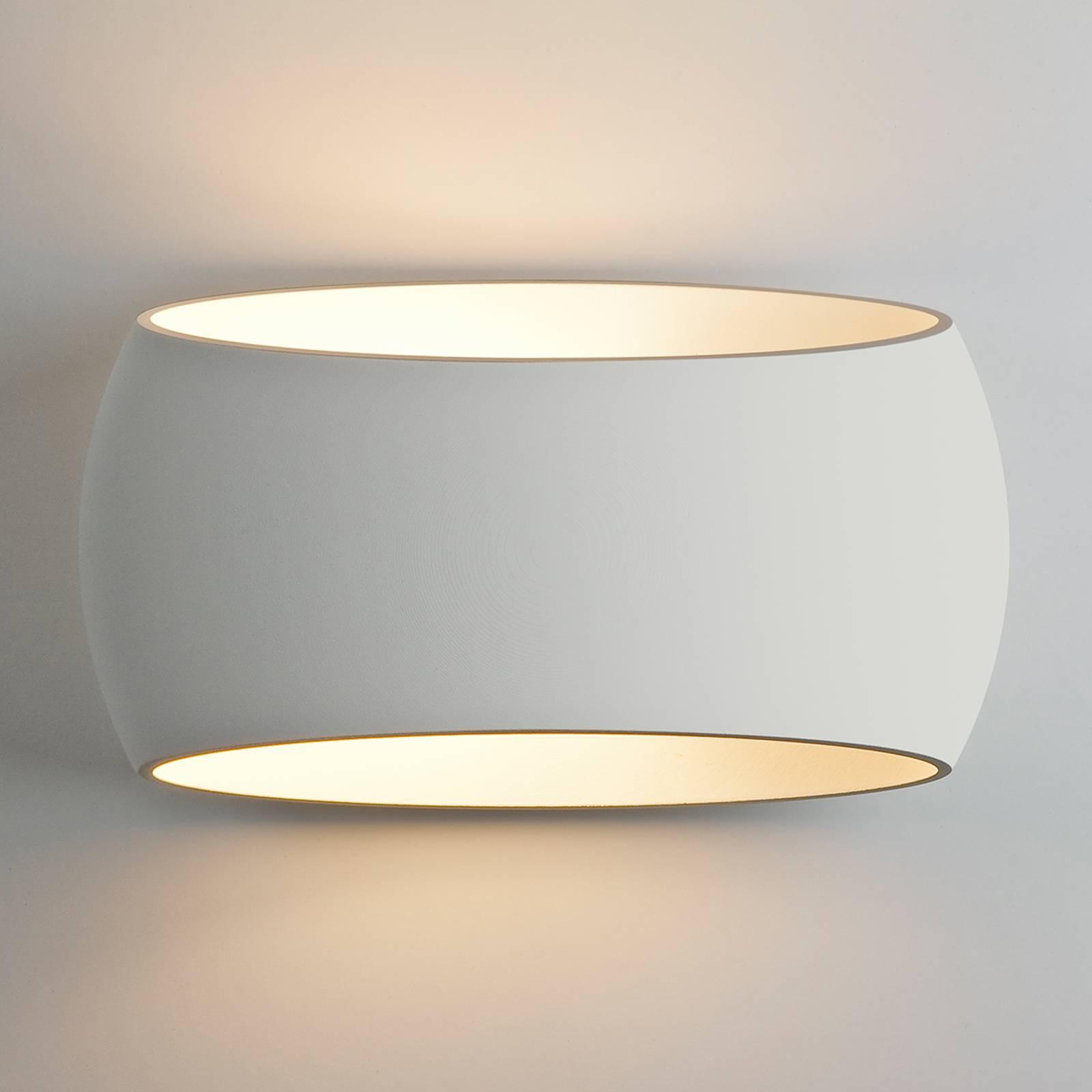 Beschilderbare gips wandlamp Aria