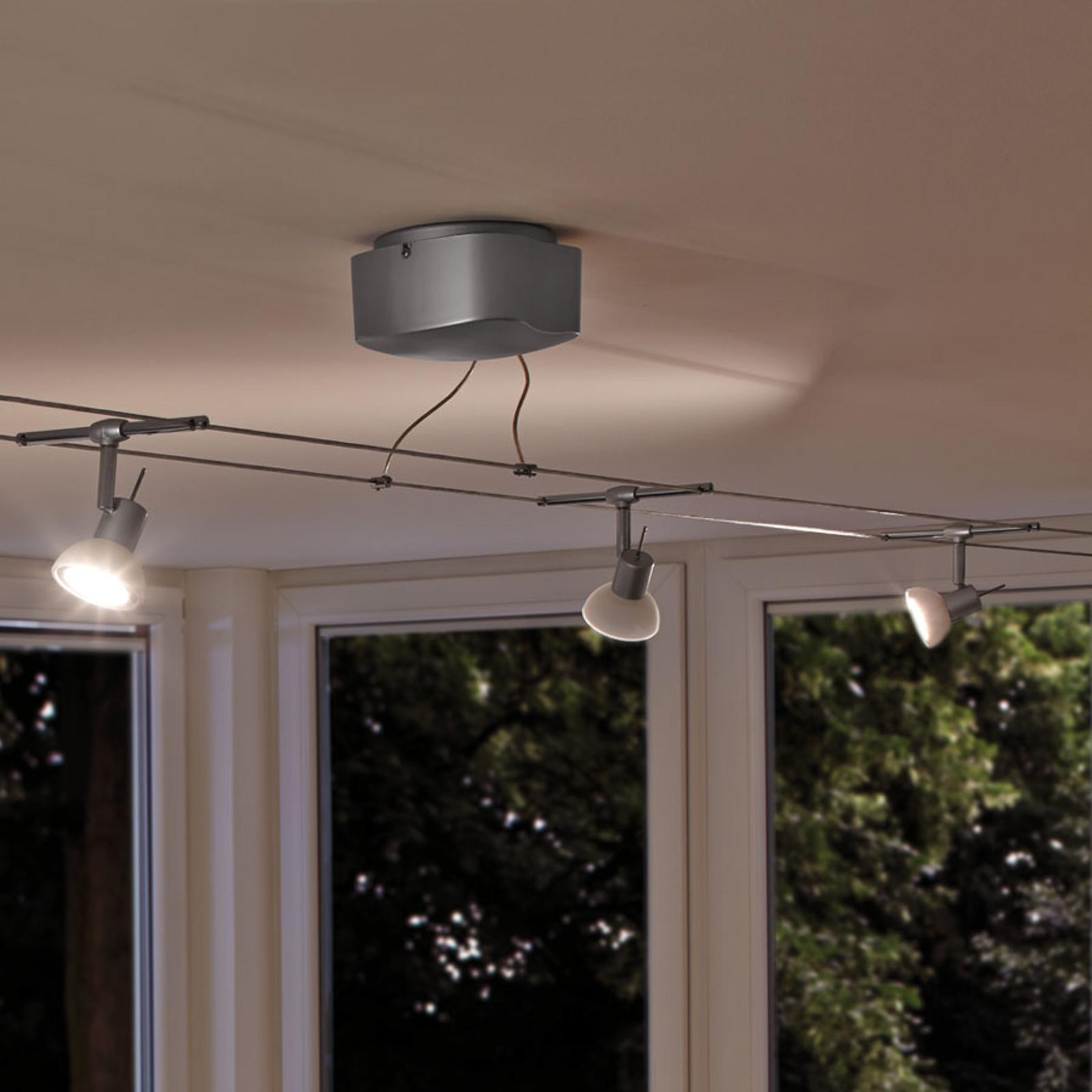 Zesflammige kabelsysteem-set Sheela LED