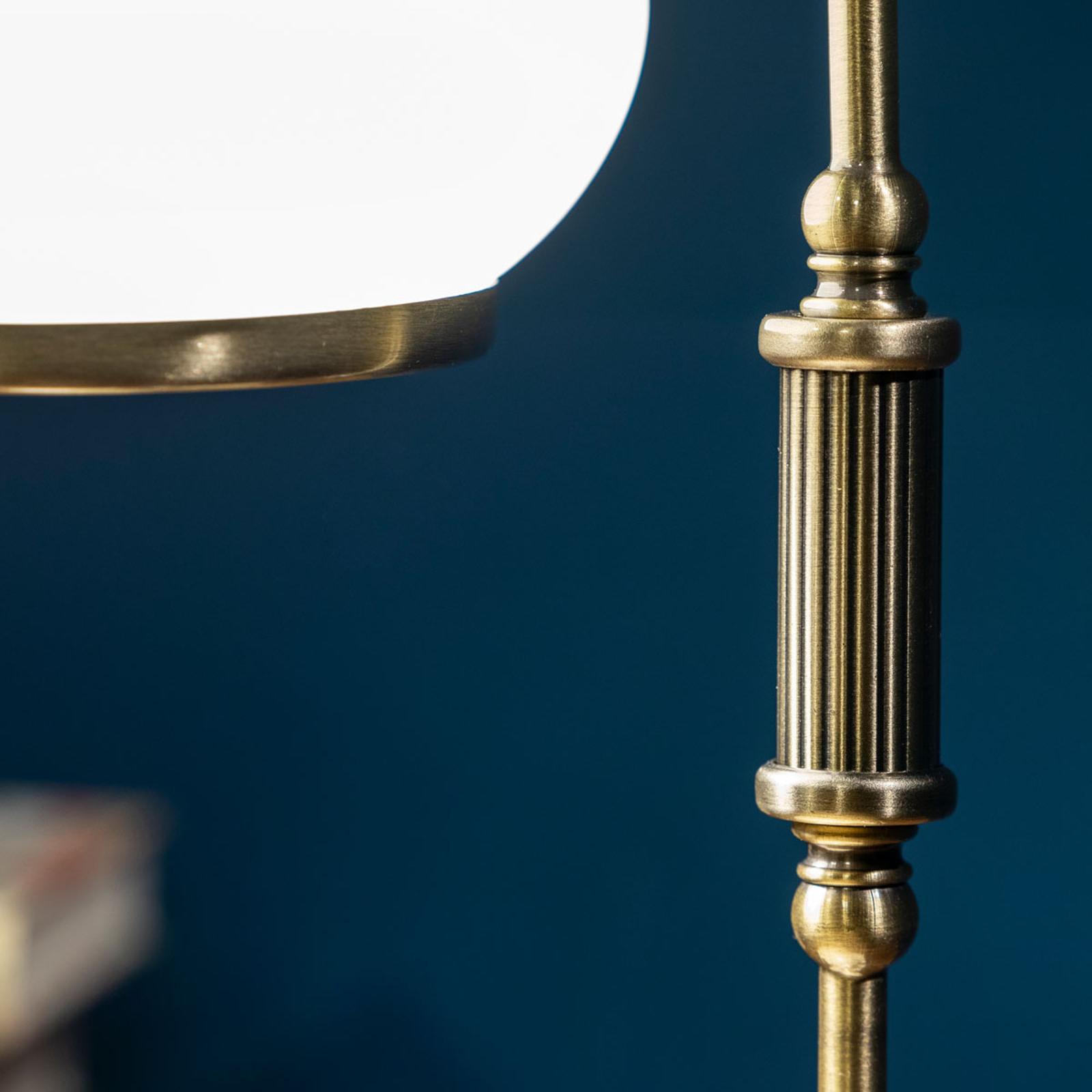 Stolní lampa NOSTALGIKA starožitná mosaz