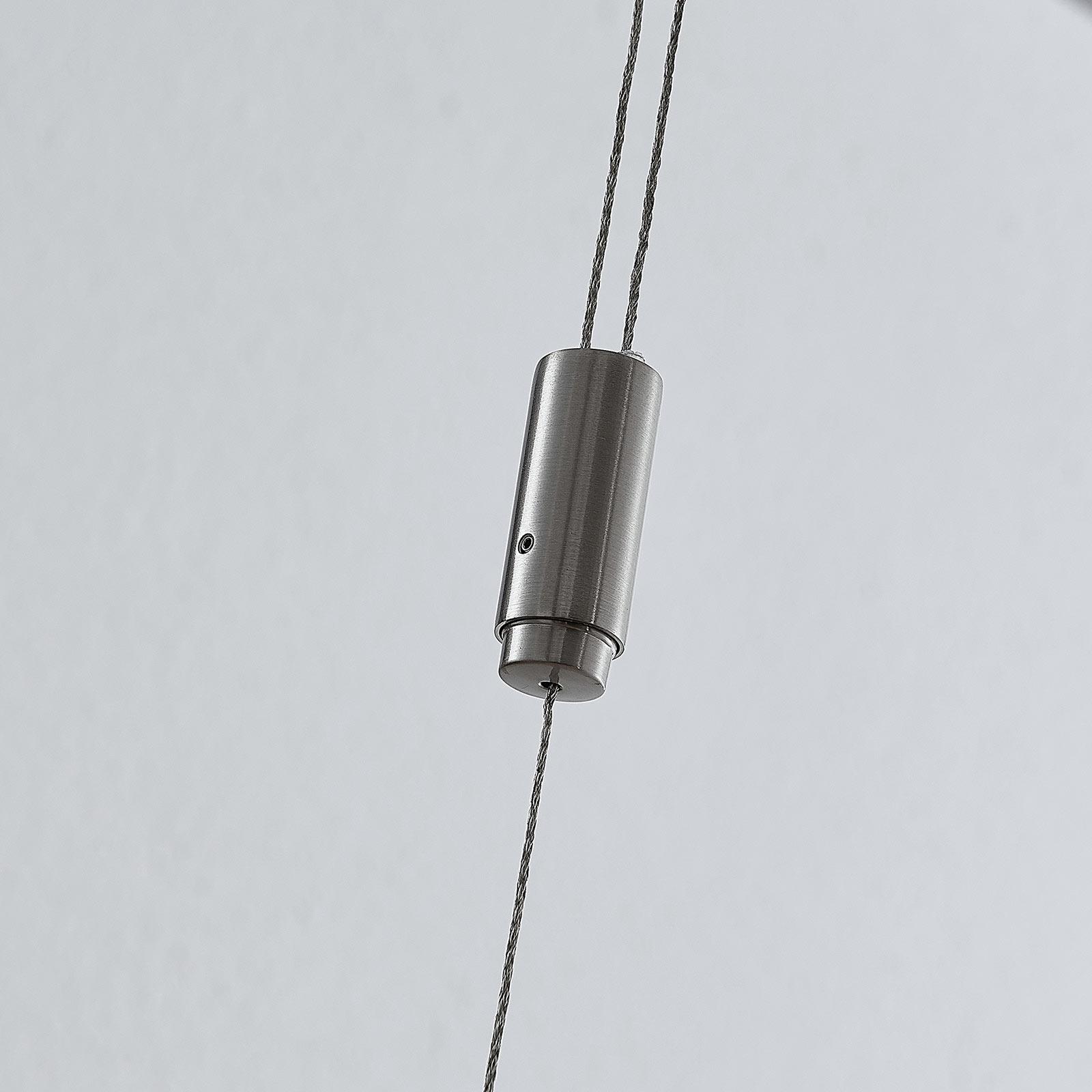 LED hänglampa Marija, lodrät kåpa, silver | Lamp24.se