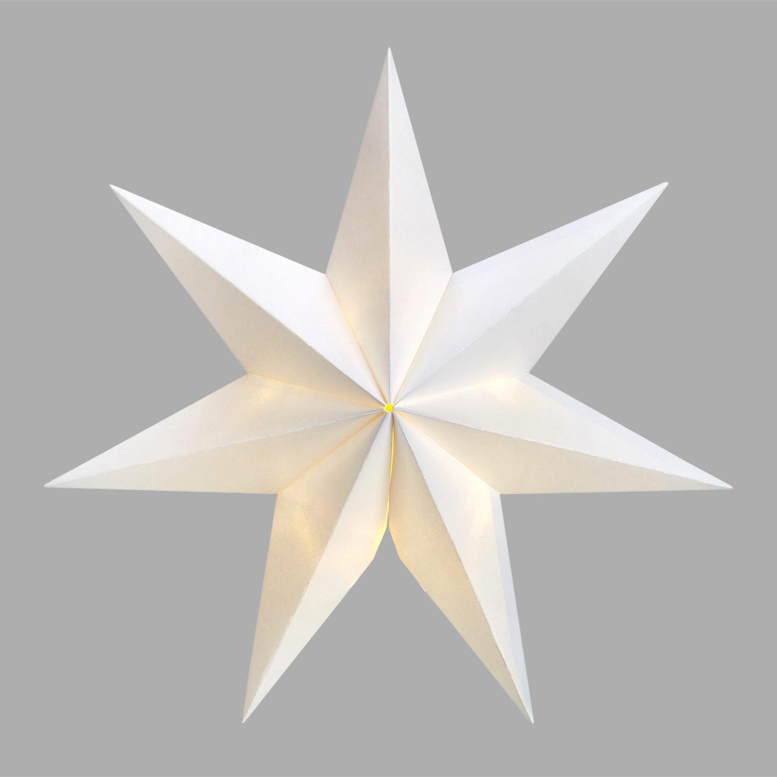Sjuuddig LED-stjärna Malva med sugproppshållare