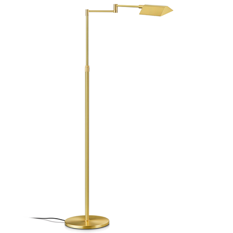 Lampada LED da terra Dream, ottone, comando gest.