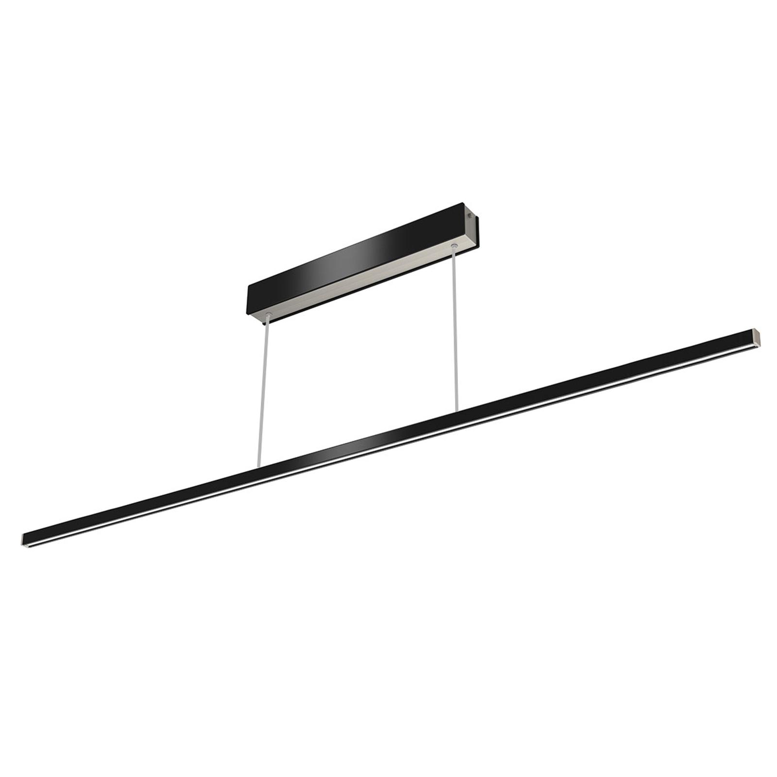 Lampada LED a sospensione Orix nera 150 cm