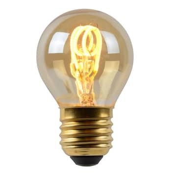 LED-Lampe E27 G45 3W amber 2.200K dimmbar
