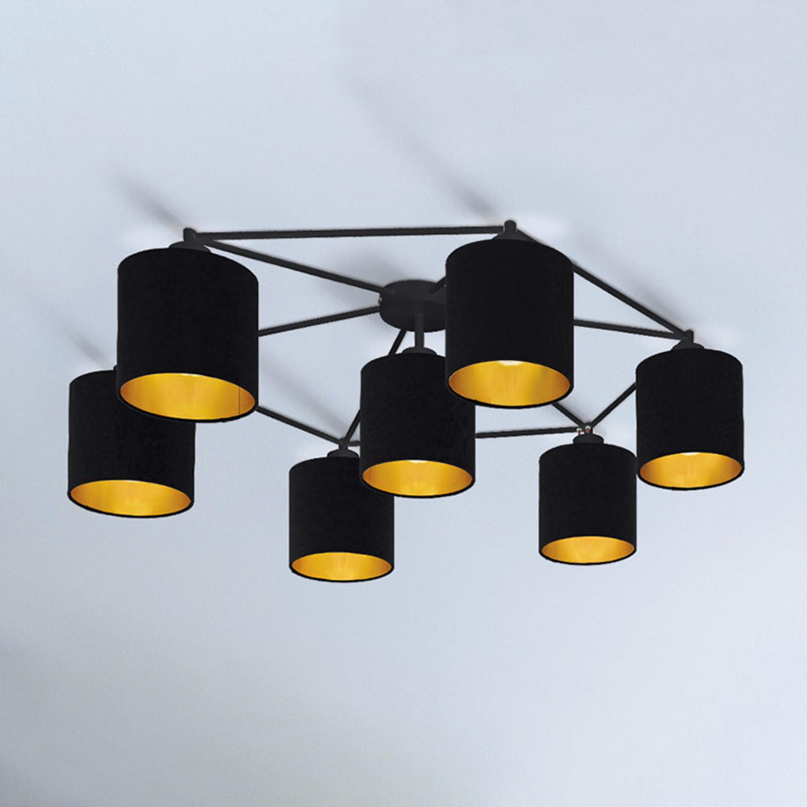 Lampa sufitowa Staiti czarna z kloszami