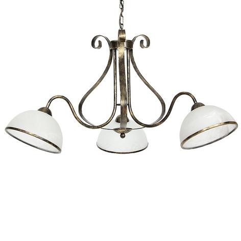 Suspension Antica rustique, à 3 lampes